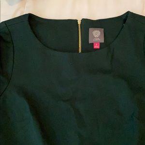Vince Camuto hunter green 3/4 sleeve dress